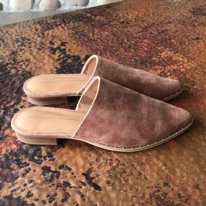 Report Shoes - New Report Tan Mule Flats. Size 7.5.